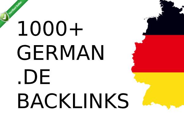 High PR DA German seo backlinks with keyword related content.