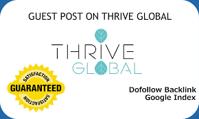 publish a guest post on thrive global thriveglobal