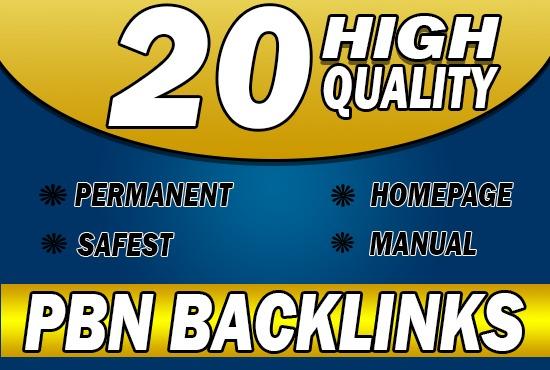 Provide 20 HQ PBN backlinks High DA PA TF CF