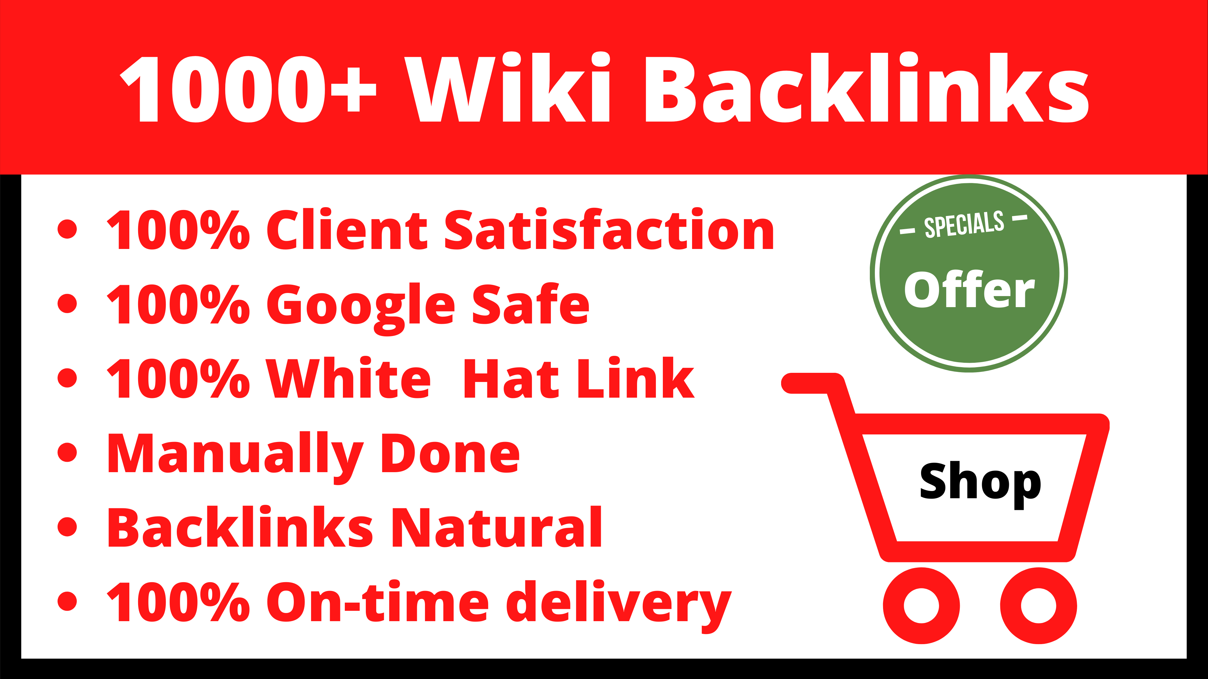 SEO Wiki 1000+ Backlinks Cheap Price Limited Time Offer