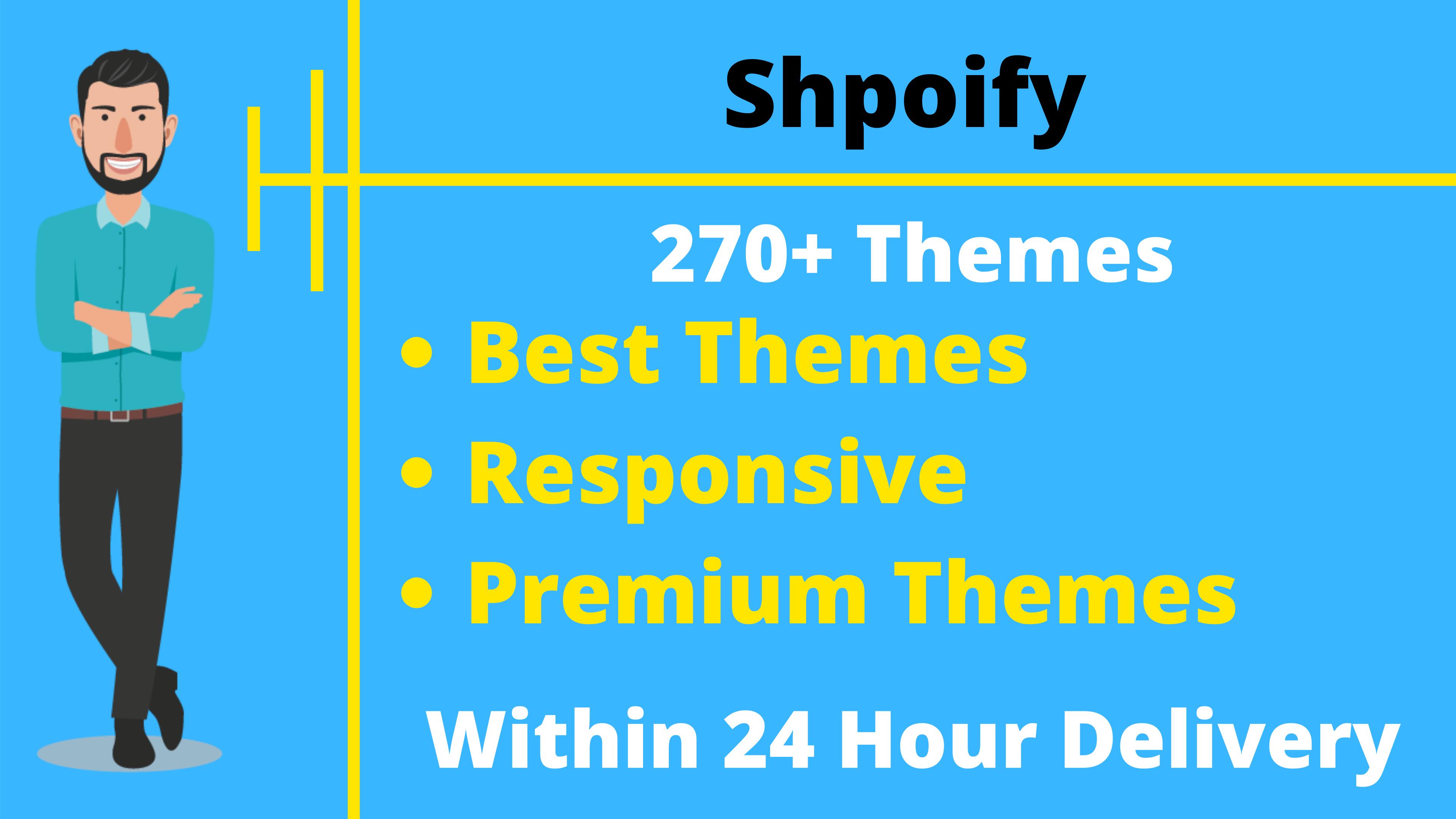 250+ Premium Shopify Store Themes & Templates