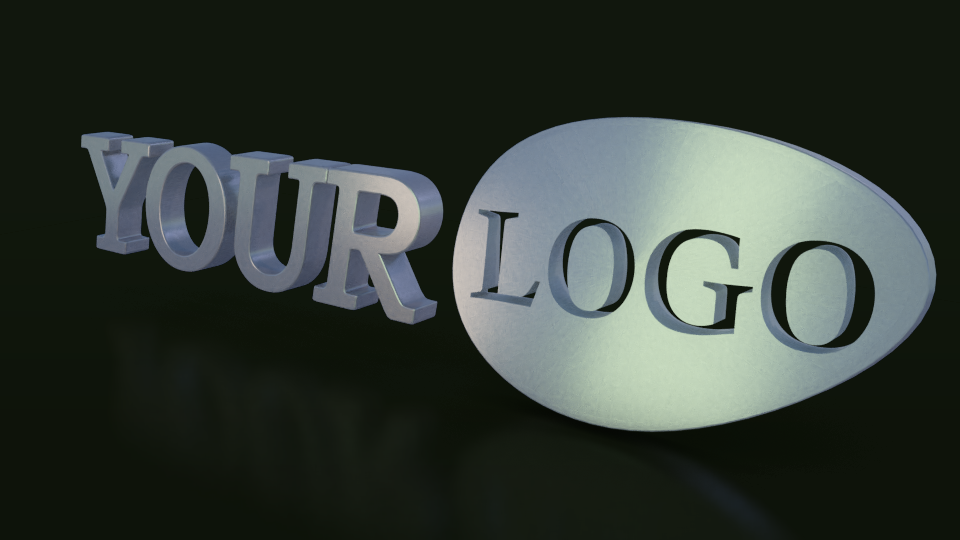 Your logo in 3D,  full HD with effects