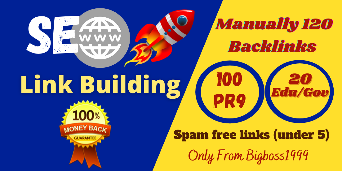 I will provide 100 High Authority with 20 Edu/Gov SEO Backlinks - Fire your google Ranking