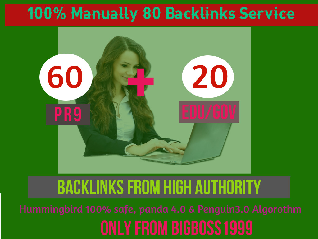 I will manually do 60 PR9 + 20 EDU/GOV Safe SEO High DA - Skyrocket your Google RANKINGS