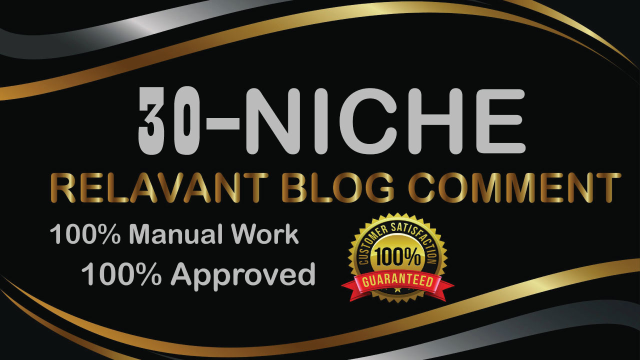 Build 30 Niche Relevant Blog Comments Backlinks