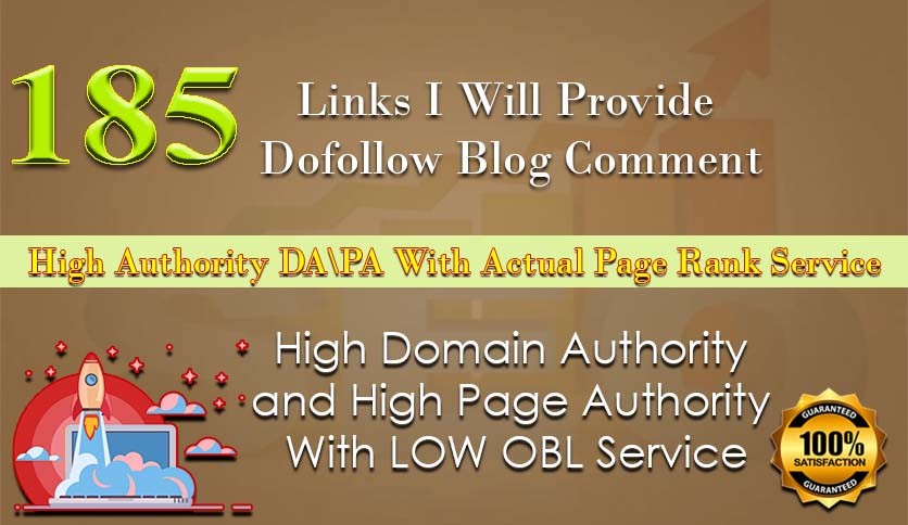 I will create 200 dofollow blog comment backlinks on high da pa