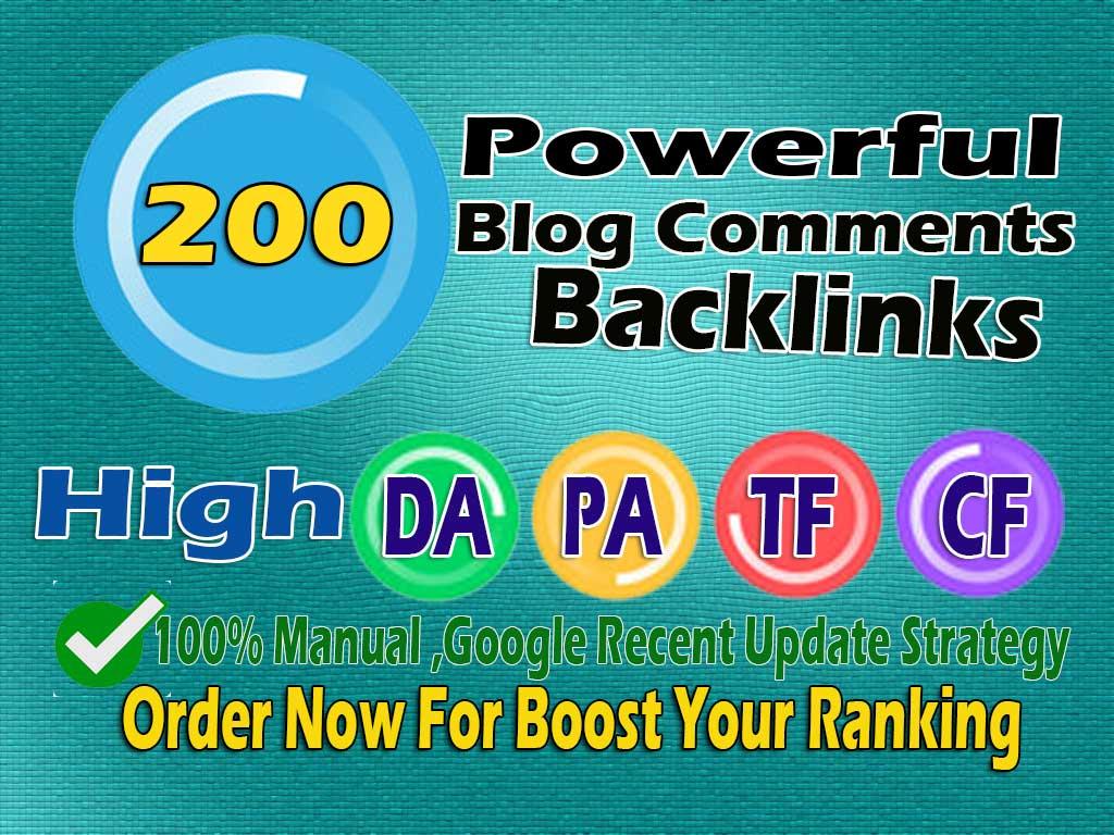 i will do 200 dofollow blog comment backlinks