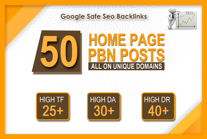 I will make 50 high da pa tf homepage pbn backlinks permanent posts