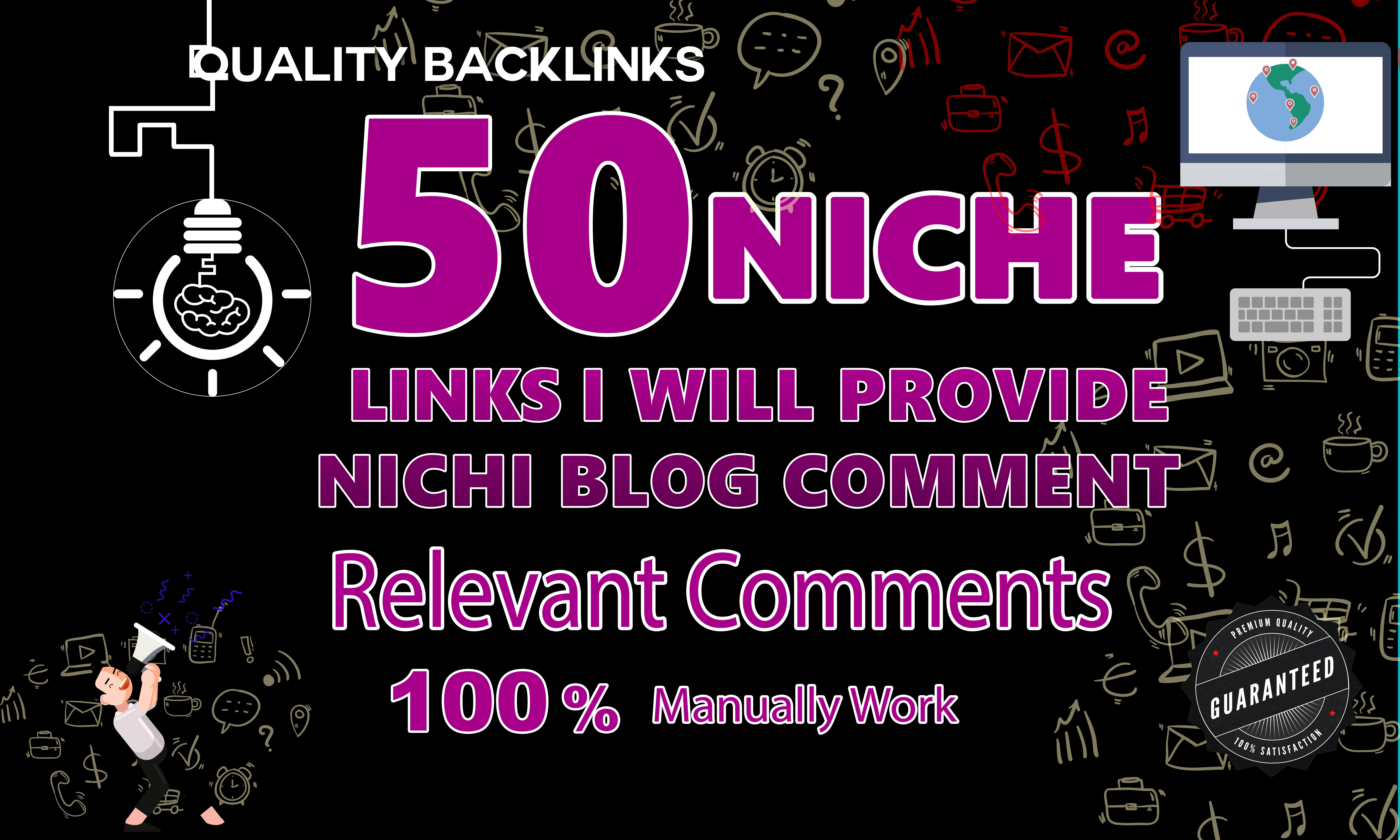 provide 50 niche relevant blog comment and relevant comment