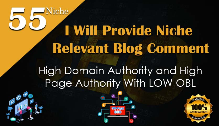 I will create manually niche blog comment backlinks