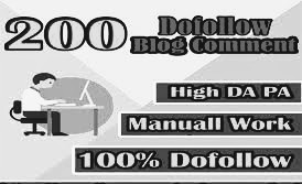 I will manually blog comments on 200 websites with high PR2 to PR6