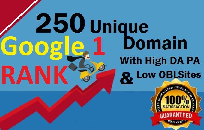 Manually Do 250 Unique Domain Seo Backlinks Pr 10 On High DA Sites