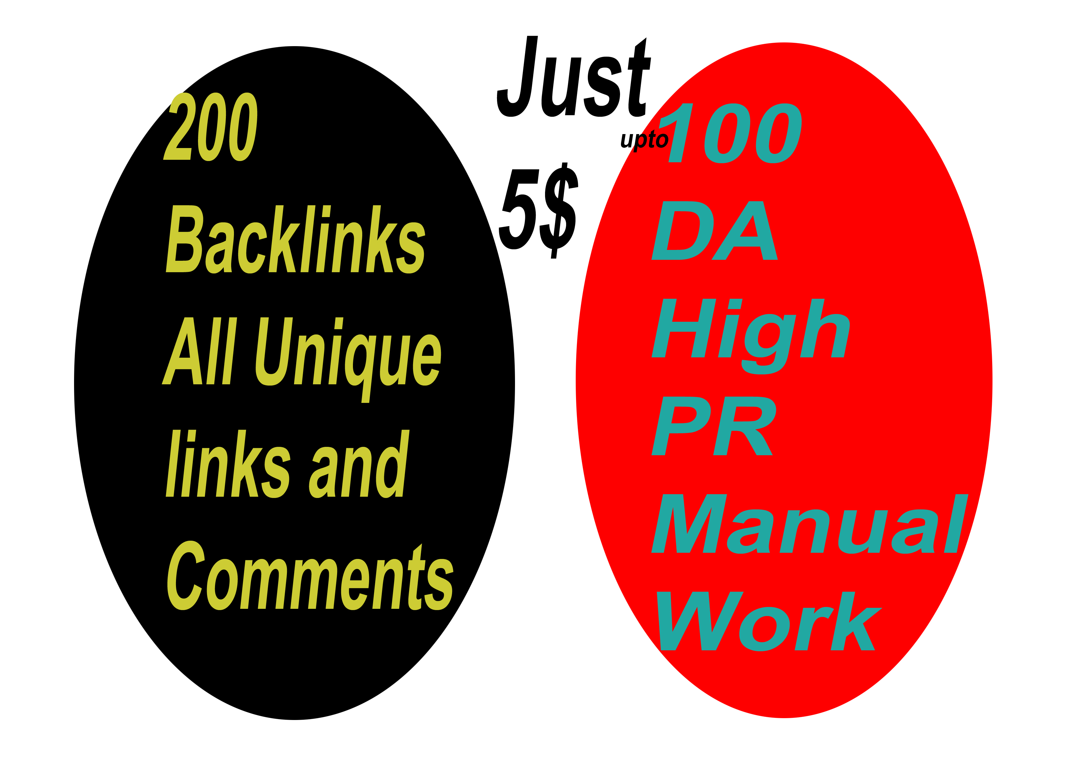 i will do 200 backlinks all unique links and comments on
