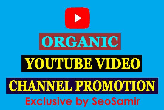 Manually Social media video Promotion & Marketing from Real user.