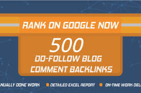 I can make 500 niche revelent blog comment.