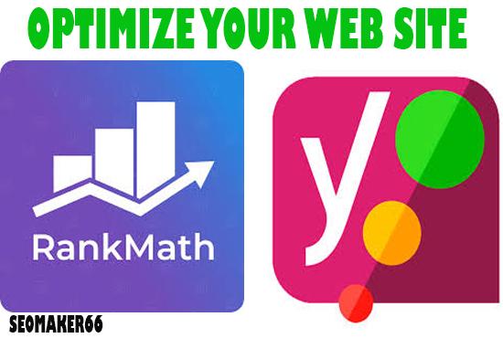 20 page I will do WordPress Rank Math/Yoast SEO on page optimization 2021