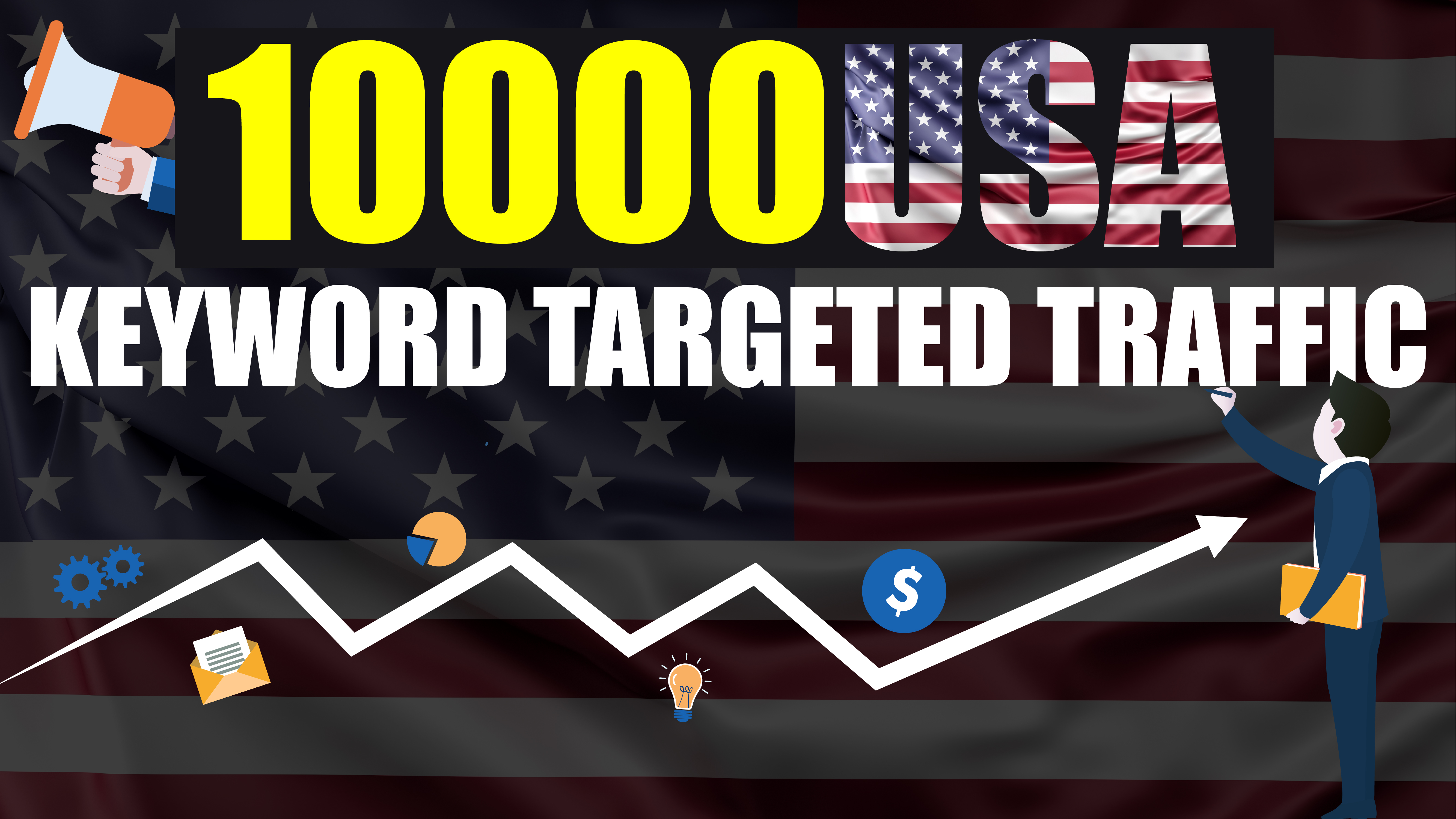 10.000 real USA Visitors to your Website - Keyword Targeted