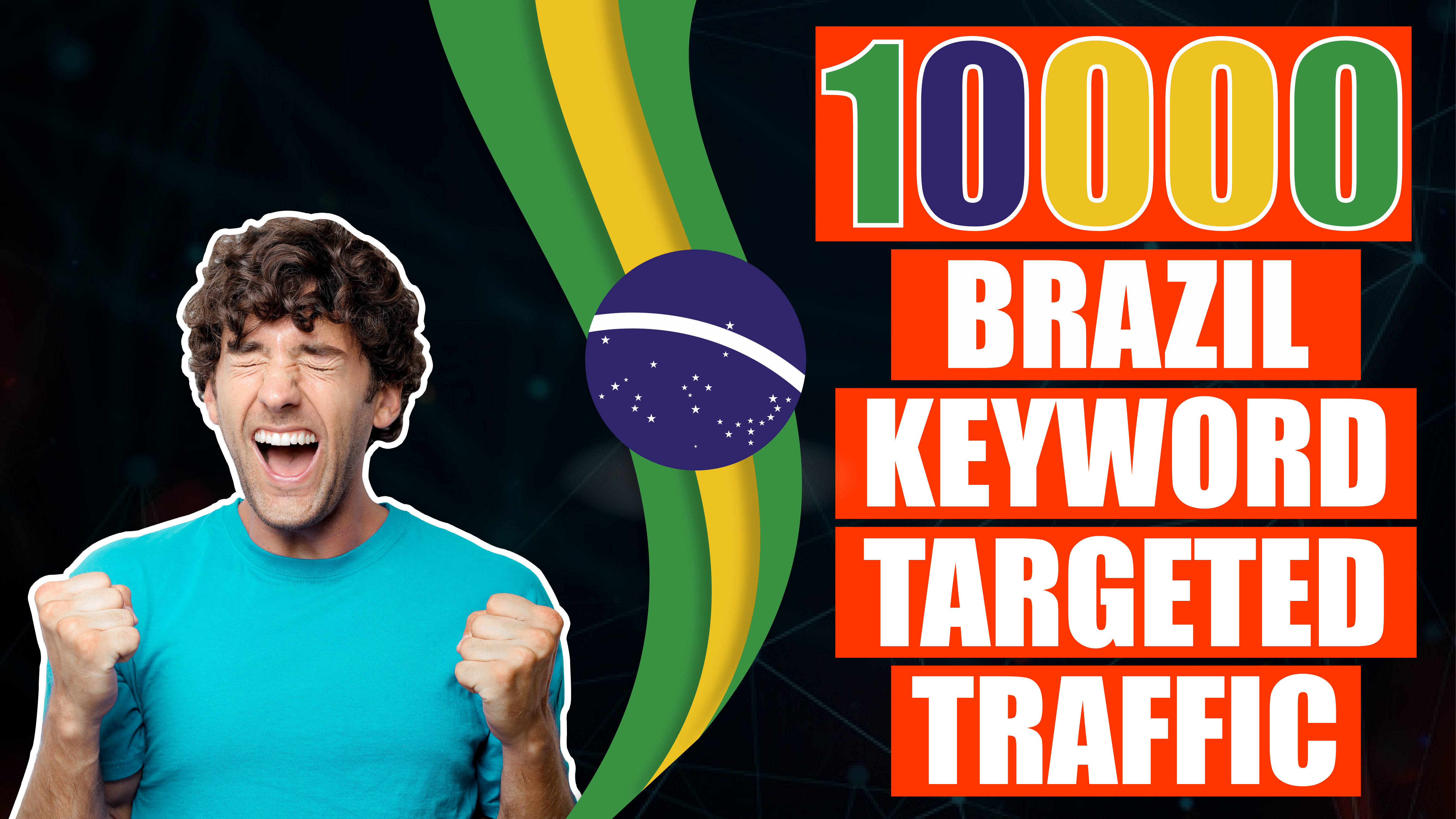 10.000 real Brazil Visitors to your Website - Keyword Targeted