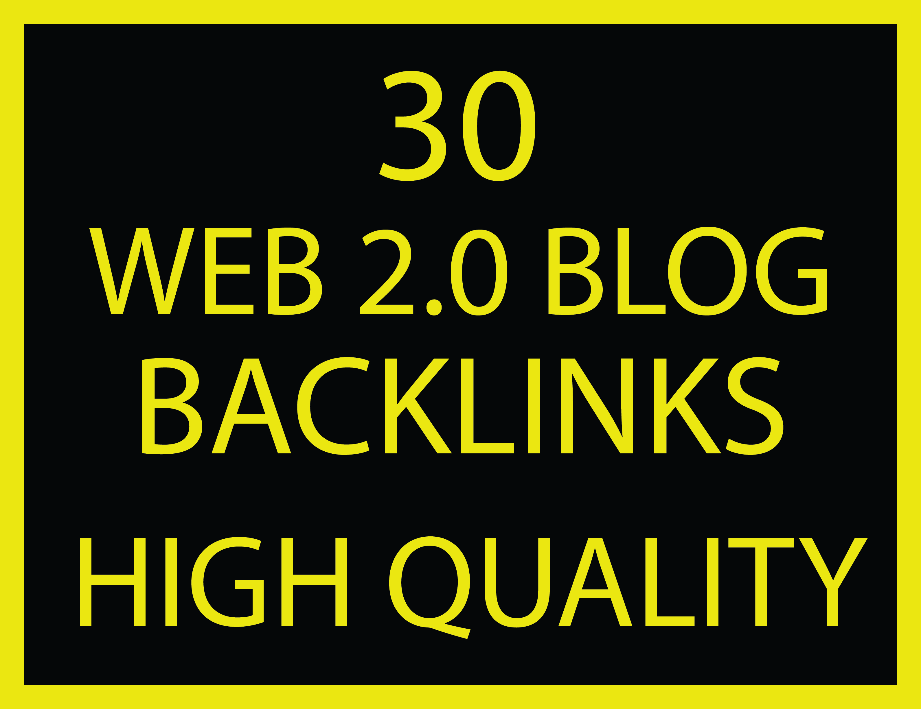 rank your blog with unique domain 30 web 2.0 backlinks high quality