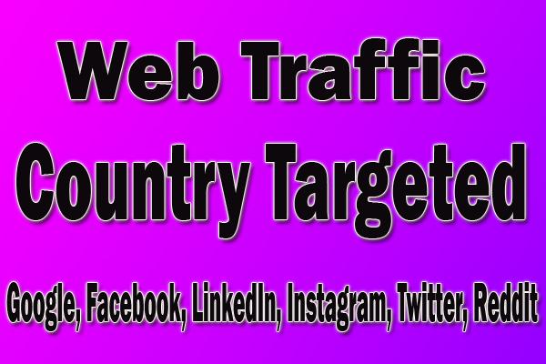 send 2, 00,000 targeted organic web traffic