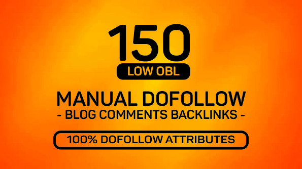 I will provide 150 seo blog comments do follow backlinks with low obl