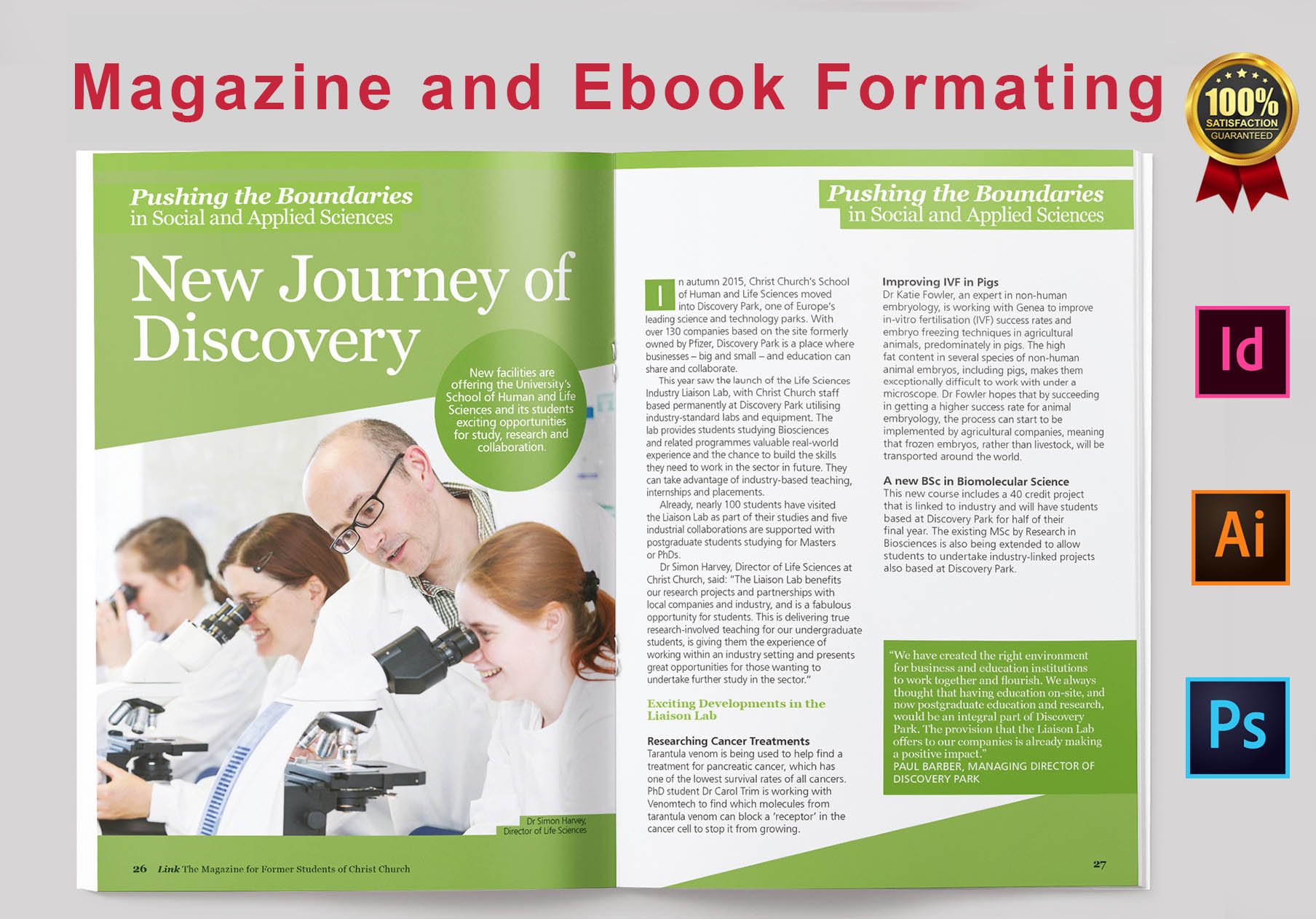 I will create ebook design,  ebook formatting or layout for pdf