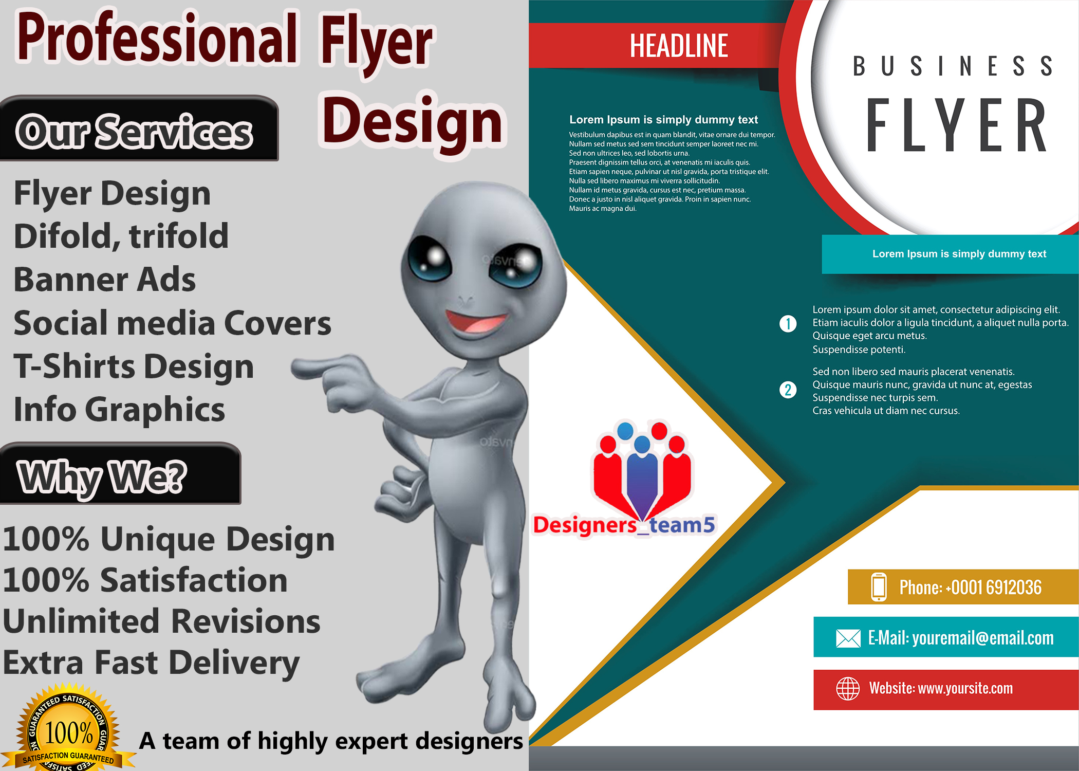 I will do Professional graphics designing for you