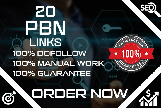 I will do 20 pbn high da pa backlink high quality links