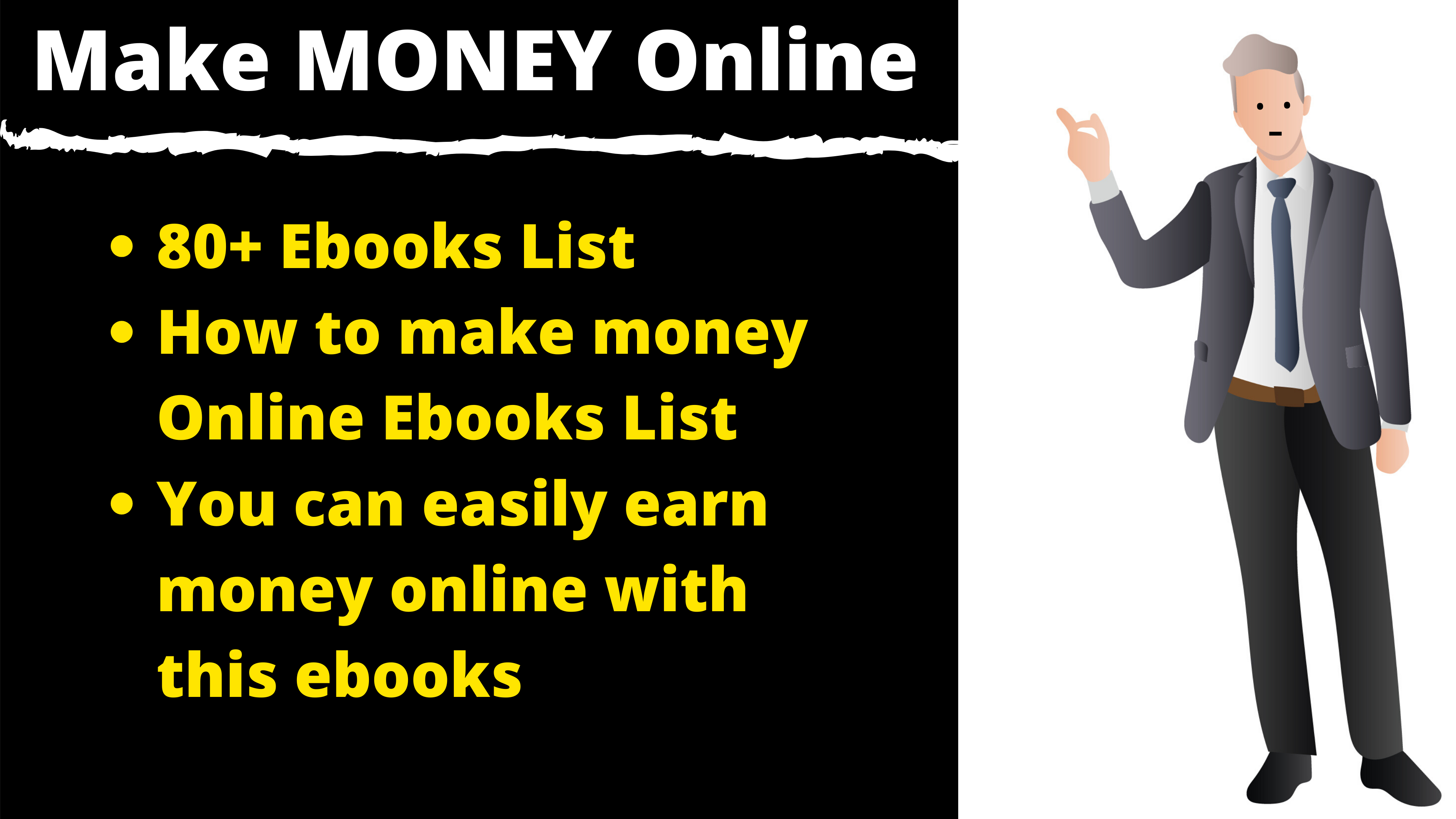 80+ Ebooks About How to make money online easily