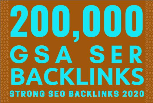 200k gsa ser backlinks for faster website ranking