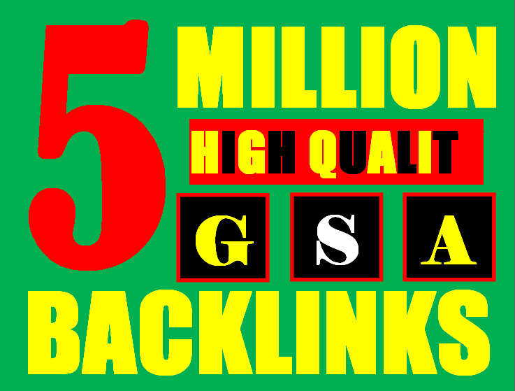 5 million gsa ser backlinks for faster ranking website, page, video