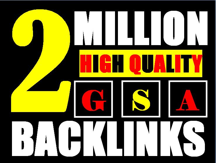 2 million gsa ser backlinks for faster ranking website, page, video