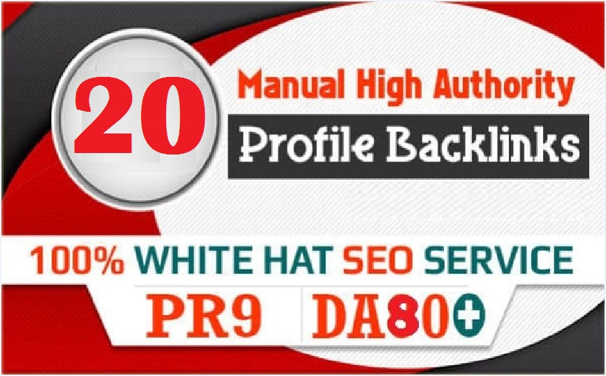 Google Influencing TOP 20 Authority Profile Backlinks to increase SERP SEO Ranking