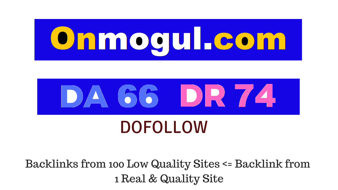 Guest Post on Onmogul. com DA66 DR74