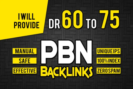 I will make PBN 20 DR 60 to 75+ Powerful Homepage High Quality PBN