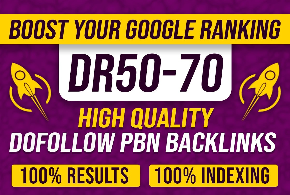 Build 10 PBN Dr 50 to 75 dofollow permanent homepage pbn backlinks
