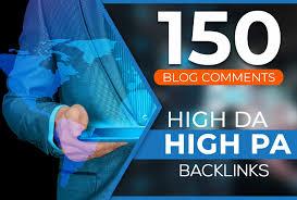 I provide 150 unique domain high da pa dofollow blog comments