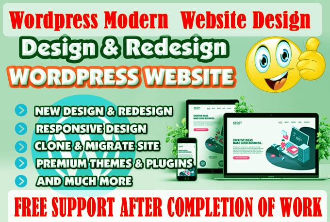 Create SEO Friendly WordPress Website Design & Landing Page