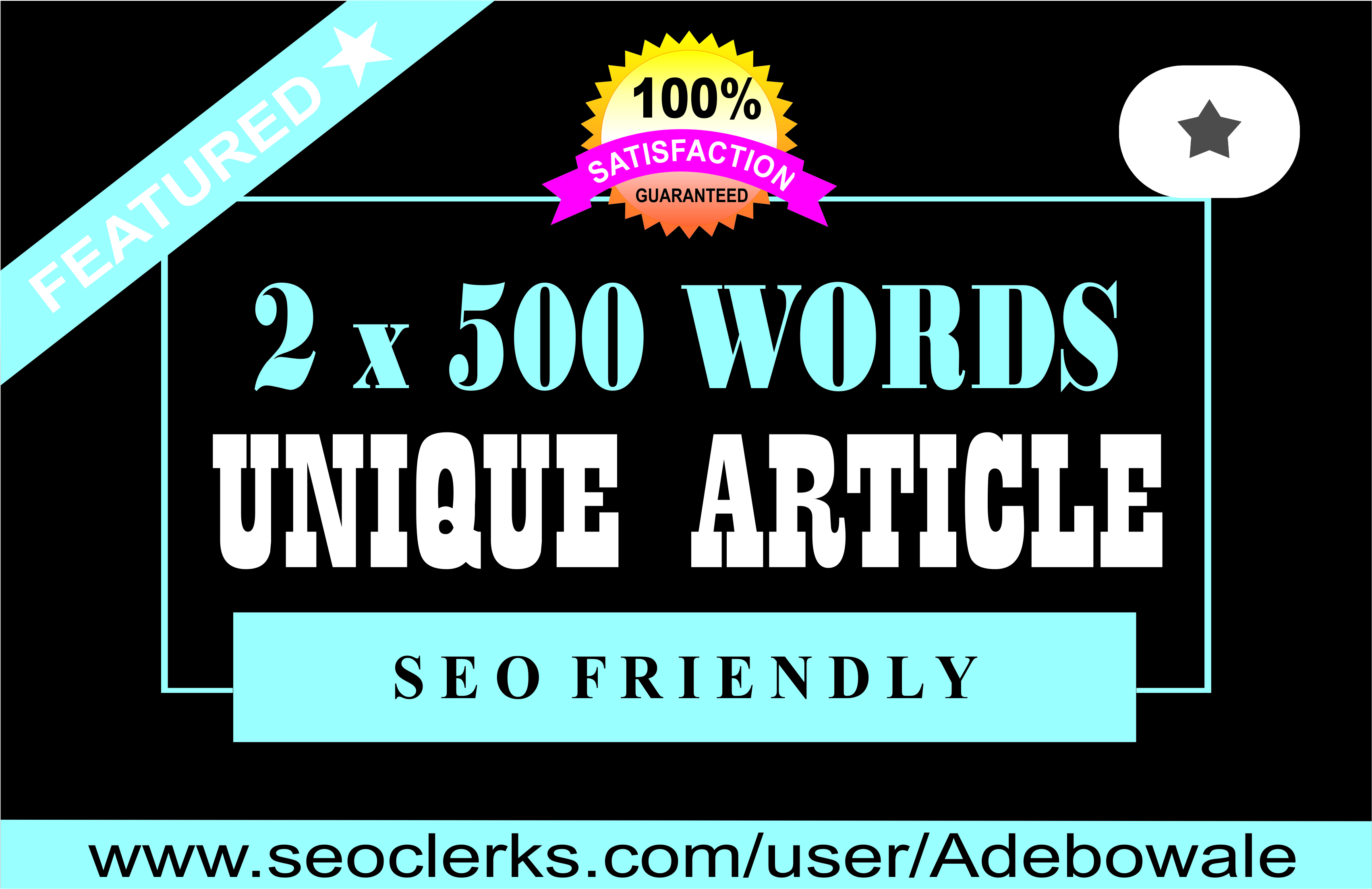 2 x 500 words Premium Article writing / Content Writing