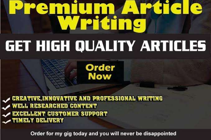 I will write 1000 words unique and good quality articles