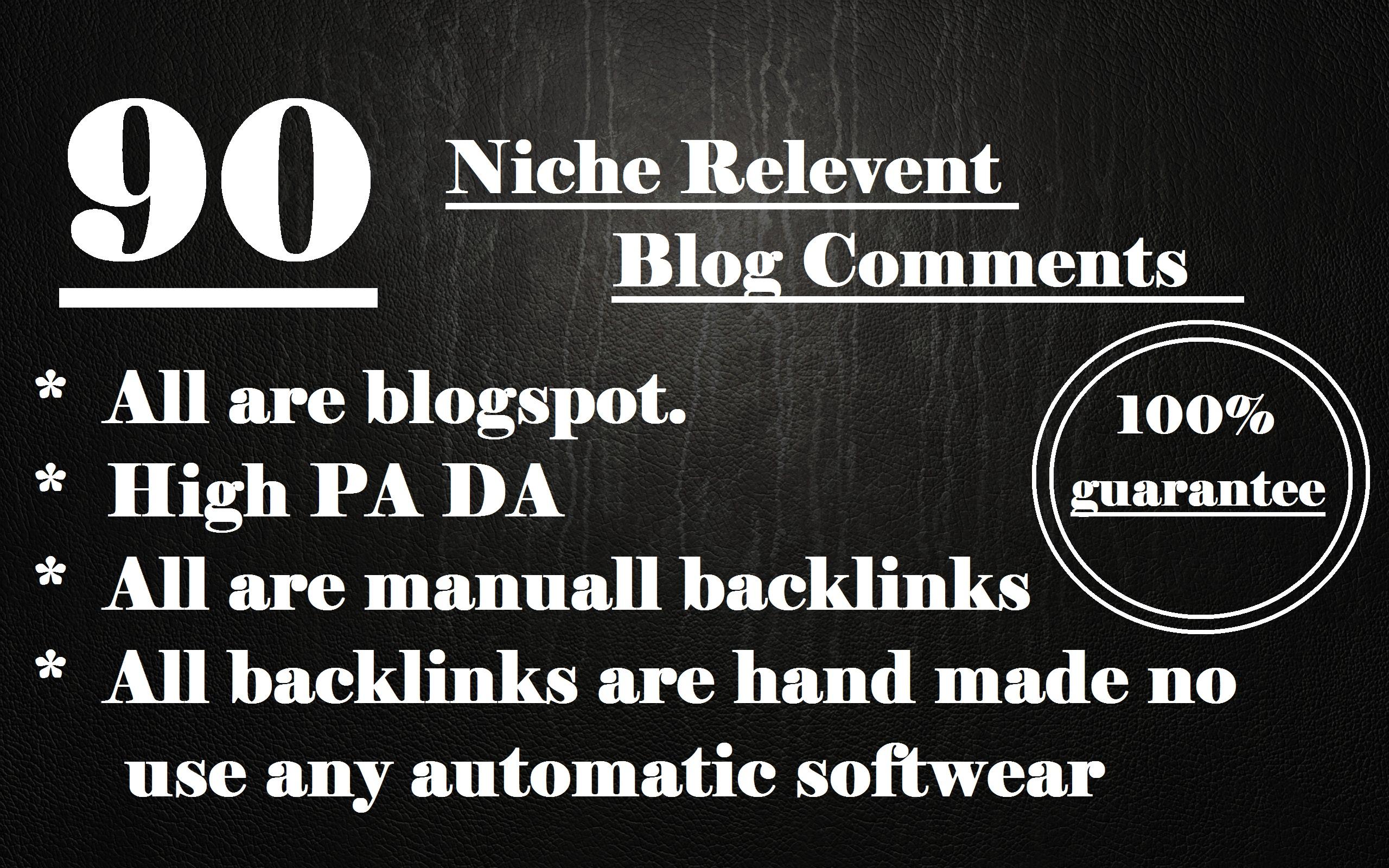 90 Niche Relevent Blog Comments