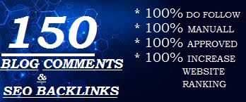 I will create 150 high authority seo backlinks and blog comments