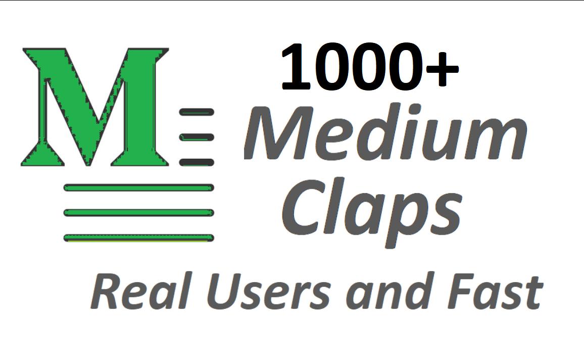 Get set you 1000+ Medium Claps on your Medium Article medium