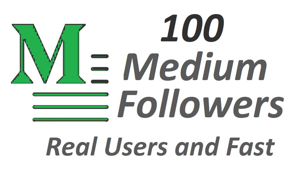 Get 100+ Medium folowers on your Medium profile