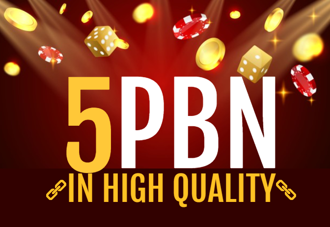 5 Niche High Quality CASINO,  POKER,  SLOTS Relvent PBN Backlinks