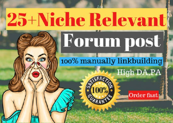 I will post 25 high quality forum posts on your forum