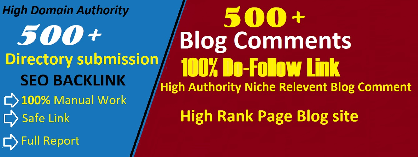 I Will Submit 500 Blog Comment And 500 Directory Submission