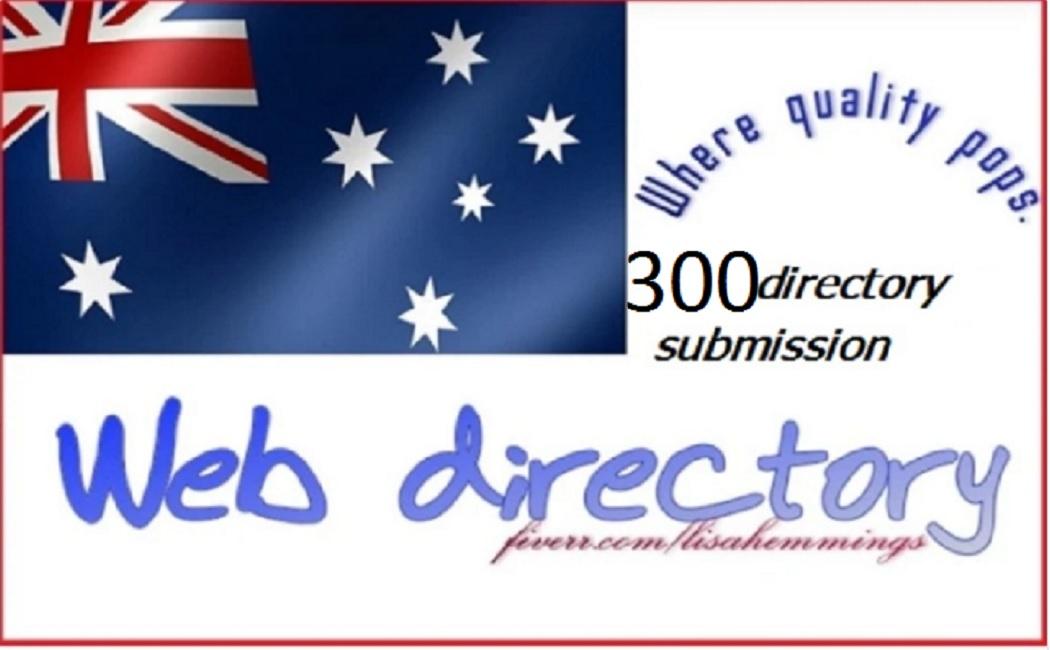 I will do300 australia high da web directory submissions