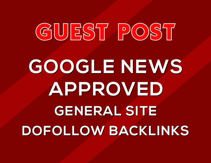 I will do guest post on my google news approved site DA 56 dofolow parmanent backlink