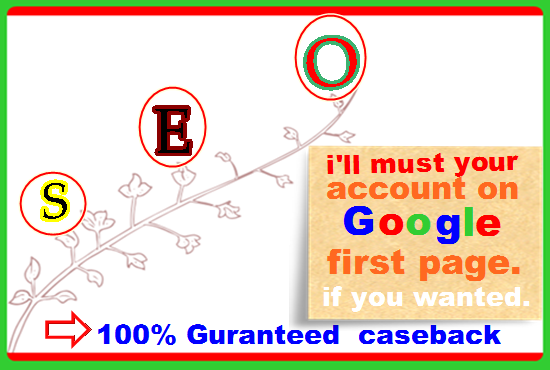 Google 1st page ranking on Your Website best result,Highquality Backlink ,